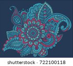 flower pattern bright abstract... | Shutterstock . vector #722100118