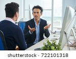 asian business people... | Shutterstock . vector #722101318