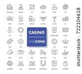 line icons set. casino pack.... | Shutterstock .eps vector #722104618