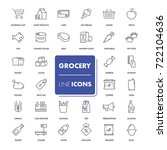 line icons set. grocery pack.... | Shutterstock .eps vector #722104636