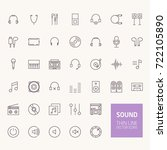 sound outline icons for web and ... | Shutterstock .eps vector #722105890