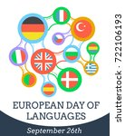 greeting card   european day of ... | Shutterstock .eps vector #722106193