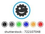 wink smiley gear icon. vector...   Shutterstock .eps vector #722107048