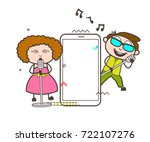 rock star singers with... | Shutterstock .eps vector #722107276