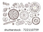 bakery and bread vector... | Shutterstock .eps vector #722110759