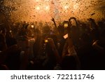 party people rock concept.... | Shutterstock . vector #722111746