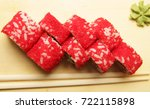 traditional japanese food roll... | Shutterstock . vector #722115898