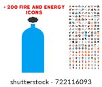 gas cylinder pictograph with...