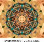 abstract multicolored fractal... | Shutterstock . vector #722116333