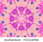 seamless kaleidoscope pink... | Shutterstock . vector #722116906