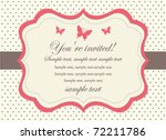 Butterfly Invitation Card