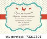 retro invitation card | Shutterstock .eps vector #72211801