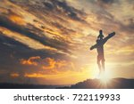 jesus christ crucifix cross on... | Shutterstock . vector #722119933