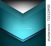 green turquoise vector... | Shutterstock .eps vector #722123920