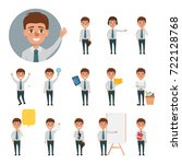 business man character set in... | Shutterstock .eps vector #722128768