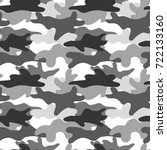 black and white camouflage.... | Shutterstock .eps vector #722133160