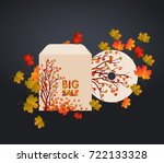 cd cover design  card and... | Shutterstock .eps vector #722133328