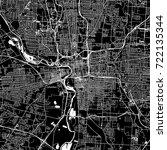 columbus  ohio. downtown vector ... | Shutterstock .eps vector #722135344