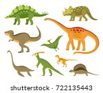 set of colorful dinosaurs. | Shutterstock .eps vector #722135443
