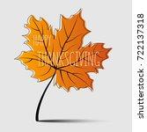 happy thanksgiving day... | Shutterstock .eps vector #722137318