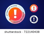 attention please sign with... | Shutterstock .eps vector #722140438