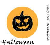 pumpkin icon. vector | Shutterstock .eps vector #722143498