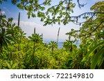 top view from bisoke volcano to ... | Shutterstock . vector #722149810