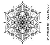 mandalas for coloring book.... | Shutterstock .eps vector #722150770