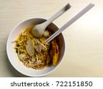 thai noodles whit spicy soup. | Shutterstock . vector #722151850
