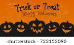 scary banner for halloween with ... | Shutterstock .eps vector #722152090