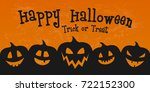 scary banner for halloween with ... | Shutterstock .eps vector #722152300