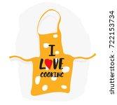 love cooking logo. silverware... | Shutterstock .eps vector #722153734