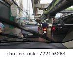 traffic jam cars struck in road ... | Shutterstock . vector #722156284
