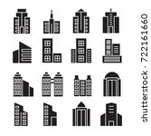 vector set of building icons | Shutterstock .eps vector #722161660