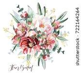 flowers bouquet | Shutterstock . vector #722164264
