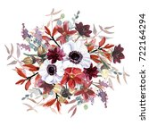 flowers bouquet | Shutterstock . vector #722164294