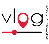 vlog video blogging logo with... | Shutterstock .eps vector #722165644
