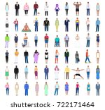 people of different trends ... | Shutterstock .eps vector #722171464