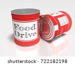two red cans on white with a... | Shutterstock . vector #722182198