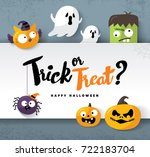 happy halloween | Shutterstock .eps vector #722183704