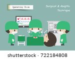 operating room   or   . surgeon ... | Shutterstock .eps vector #722184808