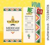 mexican restaurant menu template   Shutterstock .eps vector #722186536