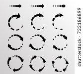 set of vector circular arrows.... | Shutterstock .eps vector #722186899