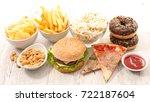 selection of junk food | Shutterstock . vector #722187604