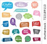 modern badges colorful... | Shutterstock .eps vector #722189113