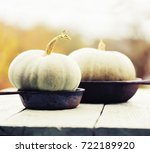 autumn food background with... | Shutterstock . vector #722189920