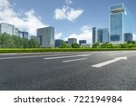 city empty traffic road with... | Shutterstock . vector #722194984