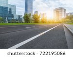 city empty traffic road with... | Shutterstock . vector #722195086