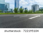 city empty traffic road with... | Shutterstock . vector #722195104