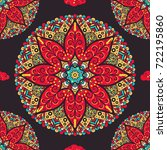 seamless pattern from handdrawn ...   Shutterstock .eps vector #722195860